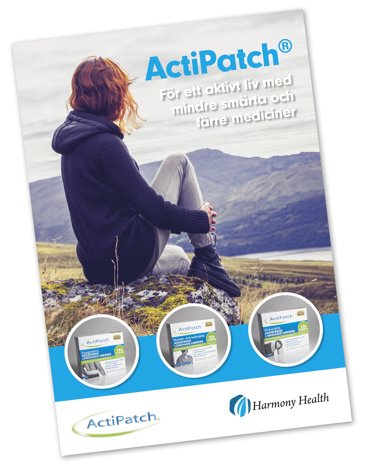Informationsfolder om smärtlindring med ActiPatch