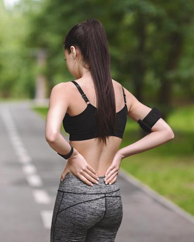 ryggont löpning